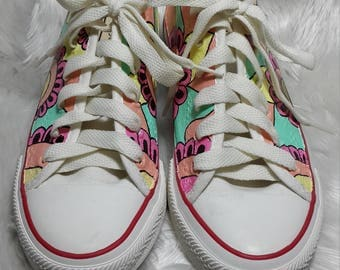 Girl shoes painting.