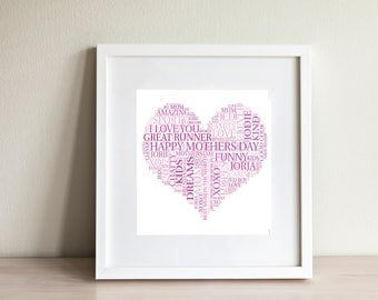 Personalised  Word Art for any occassion - Digital Printable Art