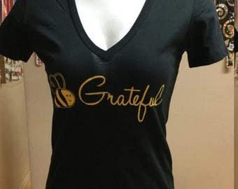 Bee Grateful Bee Sober Bee Clean T- Shirts