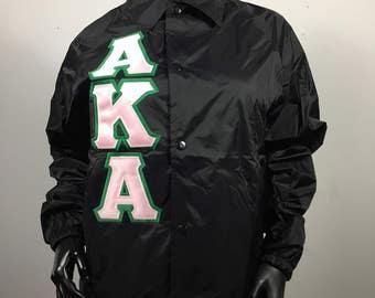Alpha Kappa Alpha Line Jacket Crossing Jacket  AKA Sorority