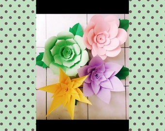 Pastel Colored Paper Flowers ***Customization Available***