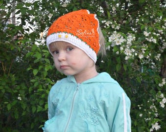 Hat for girls 1.5 - 2,5 years old