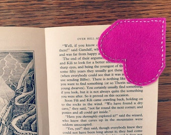 Heart bookmark, pink, girly, girls, unique bookmarks