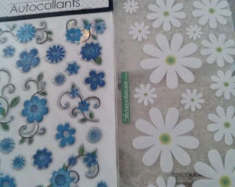 Flower Stickers, Lot of 2, New, Pretty!!