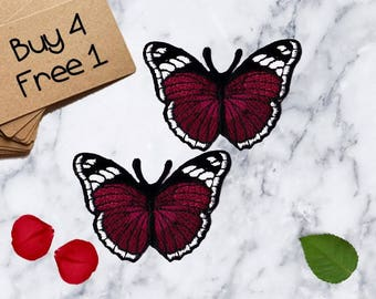 Butterfly Patches Moth Patches Iron On Patch Applique Patches For Jackets