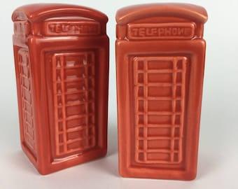 Salt and pepper shakers telephone box