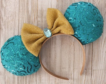 Minnie Mouse Ears, Mickey Ears, Disney Ears, Jasmine Minnie Ears, Alladin Minnie Ears, Disney Ears Headband, Minnie Ears