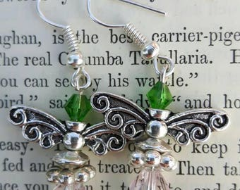 Fairy, faerie, pixie, the hobbit, angel earrings, butterfly, mothers day gift, gift for her, bridesmaid gift, wedding gift, yyj, BOHO chic,