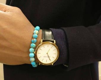 Turquoise Bracelet for Men and Women, Bead Bracelet, Semi Precious Stone bracelet, Fashionable Men's Jewellery