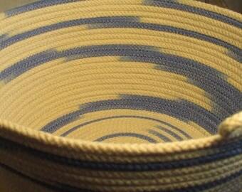 Seascape handmade rope bowl