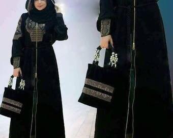 Latest Design 3xl Dubai Abaya Kaftan Maxi Dress Evening with scarf,trouser & bag