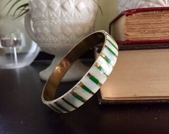 Vintage mother of pearl bangle bracelet