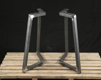 Metal Table Legs, Metal Legs, Powder Coated SET Of 2