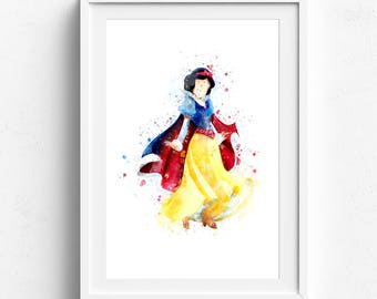 Snow white art, princess wall decor, disney printable set, disney princess art, snow white decor, snow white poster girls room art snowwhite