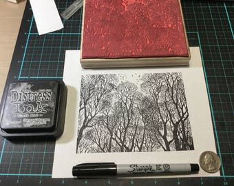Large Tree Background Stamp