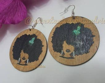 Perfect Afro Pick, Statement Earrings