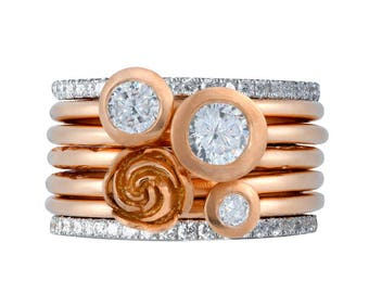 Rosey Posey Precious Twinkle Ring Stack