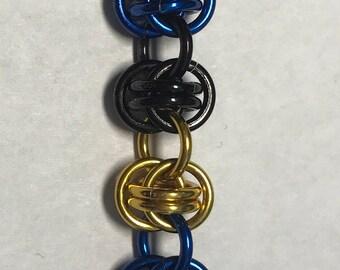 Alliance-Inspired Barrel Weave Bracelet