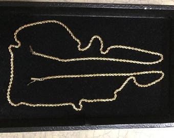 """30"""" 14KT Yellow Gold Rope Chain"""