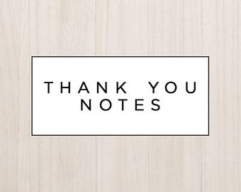 Coordinating Thank You Notes