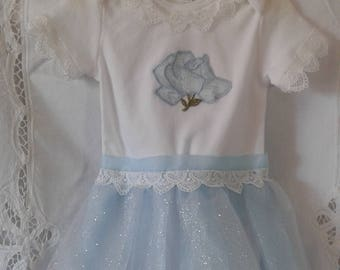 Blue and Silver Rose Tutu