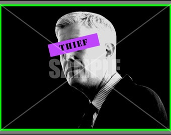 DIGITAL Neil Gorsuch THIEF Supreme Court Resistance Postcard