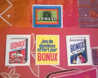 Rare domino games offered in the package bonux cardboard