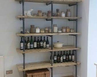 Scaffold Board and Gas Pipe Shelving