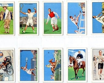"Full set of 48 ""Champions 'A' Series"" Cigarette Cards from 1934"