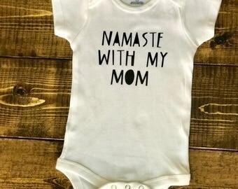 Namaste with my mom
