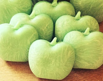 Green apple themed wax melts teachers gifts