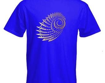 Mandala Tshirt-seashell Tshirt-geometry shell Tee-surf Tshirt-festival Tshirt-beachwear-slogan Tee-statement tshirt-mens short sleeved Tee-