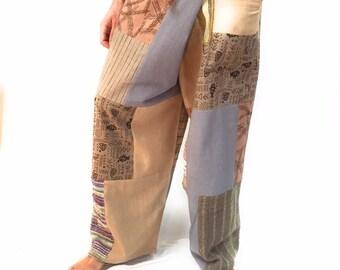 Mens Thai Pants, Fisherman Pants, Patchwork, Handmade, Fair Trade, Thailand, Mens Pants, Music Festival Clothing, Mens Clothing
