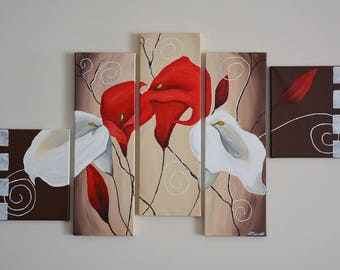 Lillies - Acrylic on Canvas