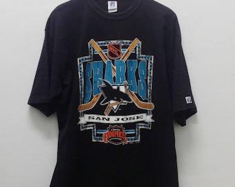 90's San Jose SHARKS Vintage Northern California NHL Hockey Team T-Shirt
