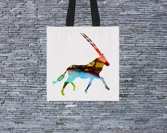 Antelope Bag - Art Tote Bag - Art Market Bag - Fashion Tote