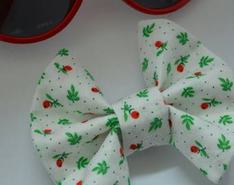 Vintage rose clip-in bow - toddler Bow - baby Bow - clip-in bow - floral