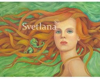 "Limited edition print of original painting by Svetlana Zhelyazkova ""Magic"""