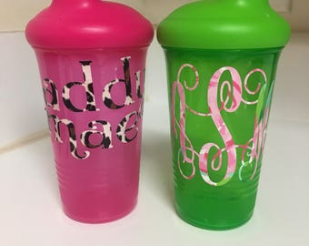 Monogrammed Sippy Cups