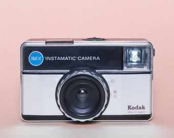 Retro Instamatic camera with case