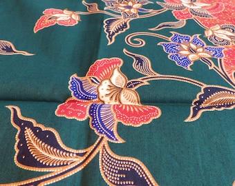 Dreamy: 220x100cm beautiful 2-color Indonesian fabric, 100% cotton, sarong, Sari, patchwork, quilt, batik