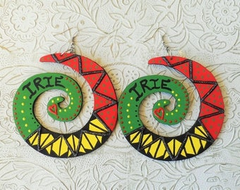 Hand painted Irie earrings