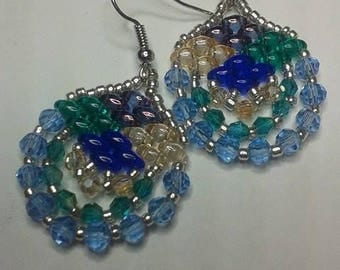 Super Duo and bicone bead earrings.