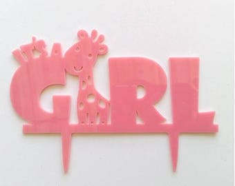 It's A Girl Cake Topper, Baby Cake Topper, Gender Reveal Cake Topper, Baby Shower Cake Topper, Elephant Topper, Cute Cake topper