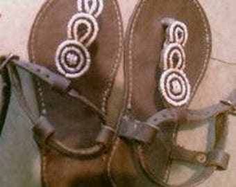 African handmade leather Sandals for ladies