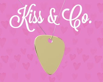 Necklace - Guitar Pick (~32x26mm) - Kiss & Co.