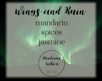 Wings and Ruin - 8oz Candle - ACOWAR - A Court of Wings and Ruin - Scented Soy Candle - Book Lover Gift
