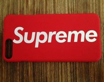 SUPREME Supreme iPhone7 case / cover Red