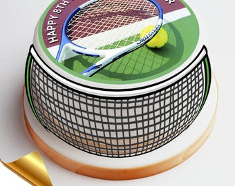 7.5' Diameter Icing Cake Topper - Tennis