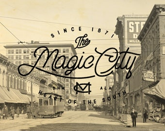 Birmingham Alabama Magic City Print